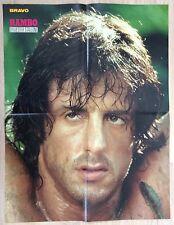 BRAVO POSTER PLAKAT Sylvester Stallone - Rambo - Die Dornenvögel - 80er Jahre !!
