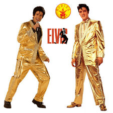 Elvis Presley Grand Heritage Costume Men Gold Lame Suit Flashy Collectors Edn