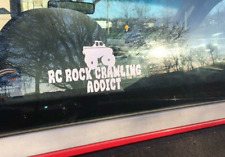 RC ROCK CRAWLING ADDICT DECAL STICKER VINYL Truck 4x4 1/10 Scale RGT Monster