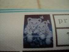 diamond painting broderie diamant 2 bébés tigres  20x20 cm