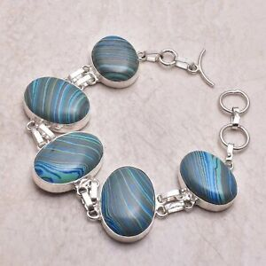 Rainbow Calsilica Ethnic Gift Jewelry Handmade Bracelet 31 Gms AB 56302