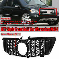 Front Mesh Bumper GT R Grill Grille For 05-08 Mercedes W164 ML320 ML350 ML550