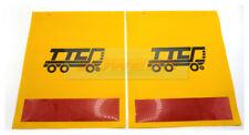Par de banderas de advertencia de elevación TTC 20585 Cola/plataforma banderas de Marcador con reflector