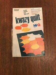Vintage Gabriel Hi-Q Puzzle Kwazy Quilt Complete Good Condition ~ FREE SHIPPING