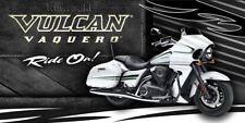 Kawasaki, Motorcycle Vulcan Vaquero Cruiser Streetbike Banner Sign