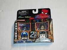 Diamond Art Asylum WW2 CAPTAIN AMERICA & SHIELD AGENT Variant Minimates 2 Pack