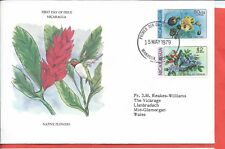 Nicaragua stamps. 1979 Native Flowers FDC (A528)