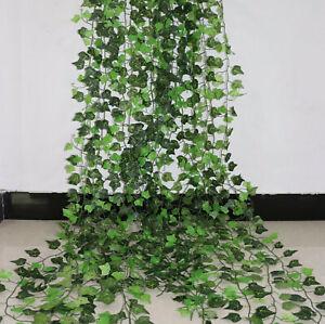 100Pcs Leaf 1 Piece Home Decor Artificial Ivy Leaf Garland Plants Vine Fake