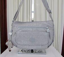 Kipling Syro Silver Metallic Snake print Crossbody Shoulder Bag HB6463 NWT
