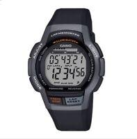 Casio WS-100H-1A Lap Memory Digital Mens Boys Watch WS-100 100M WR Original New