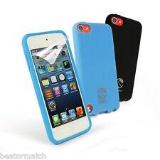 Tuff-Luv Ipod Touch 5º Gen Funda de Silicona X2 y Protector Pantalla Negro Azul