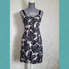 Kimchi Blue Black Rose Floral Print Sleeveless Sheath Dress | Women's M