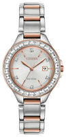 Citizen Eco-Drive Women's FE1196-57A Silhouette Two-Tone Band 31mm Watch