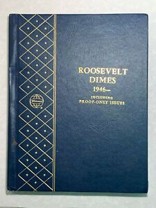 BU Set of Roosevelt Dimes 1946-1974 Includes Proof in Whitman Album-Nice Toning*