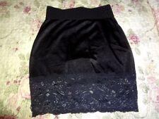 Vintage Vanity Fair Black Built in Pantie Girdle Slip