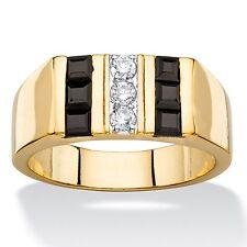 MENS 1.9 TCW BLACK ONYX 14K GOLD SQUARE CUT GP RING SIZE 8 9 10 11 12 13