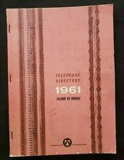 Vintage HAWAII TELEPHONE DIRECTORY 1961 Yellow Pages