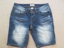MUDD Shorts Bermuda  Denim Distressed  Size 5  NWOT   #T36