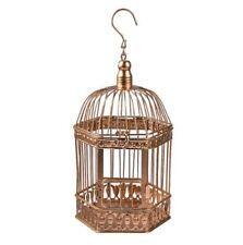 Rustic Gold Metal Decorative Birdcage Wedding Centerpiece w/hinged lid & door