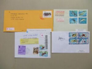 Four MARINE LIFE registered covers