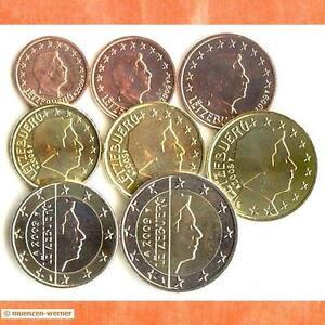 Kursmünzensatz Luxemburg 2009 1c-2 Euro•Münze•KMS alle 8 Münzen Satz Eurosatz