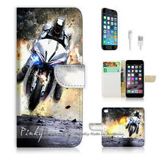 ( For iPhone 6 / 6S ) Wallet Case Cover! Motocycle Rider P0343