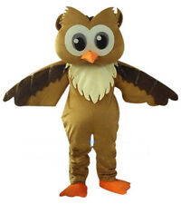 Xmas Big Brown Owl Mascot Costume Cosplay Animals Dress Adult Outfit Fancy Party