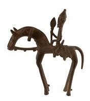 Cavaliere Dogon Bronzo Del Mali Arte Africano -21 CM Aa 799