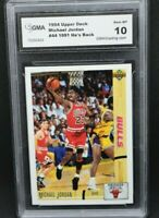 Michael Jordan 1994 Upper Deck #44 1991 He's Back GMA Gem MINT 10