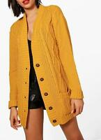 Cable Knit Chucky Cardigan in Mustard (RRP £29.99)