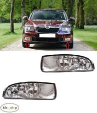 FOR SKODA SUPERB II 2008 - 2013 2X FRONT WITH DRL FOG LIGHT LAMPS LEFT + RIGHT