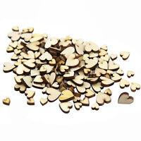 50pcs 4 sizes Wooden Love Heart Buttons DIY Scrapbooking Craft Embellishment