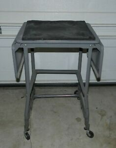Vintage metal Drop-Leaf Typewriter Table Stand used in good condition