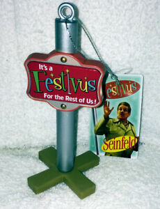SEINFELD FESTIVUS POLE CHRISTMAS ORNAMENT NEW WITH TAG
