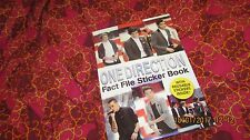 ONE DIRECTION FACT FILE STICKER BOOK, with reusable stickers