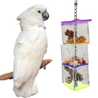 76 Stylish Birds Acrylic Foraging Toys Parrot Feeder Hanging Box Food Container