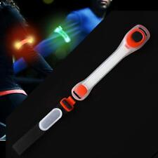 Reflective Safety Belt Arm Strap Night Cycling Running LED Armband Light Red UP