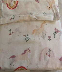 Pillowfort Unicorn Rainbows 3P Toddler Sheet Set New Pink Multi