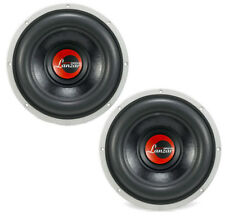 Pair of Lanzar OPTI1244D Optidrive 12 Inch Sub 4 Ohm Dvc 1100 Watt Rms Subwoofer
