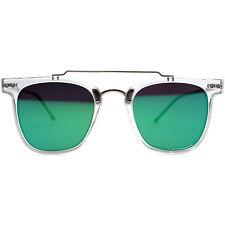 "NEW SPITFIRE Clear/Green ""FTL"" Retro Flat Lens Sunglasses -SALE"