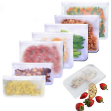 Reusable Thick Silicone Food Storage bags,Zip Lock,Freezer bag, Leak Proof S,M,L