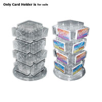 """New Almond Counter Gift Card/Business Card Holder 16 pockets 4""""W x 4""""D x 13""""H"""