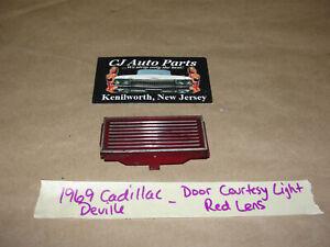 OEM 69 Cadillac Deville DOOR PANEL INTERIOR COURTESY LIGHT LENS RED