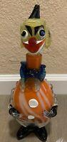 VTG Authentic Murano Hand-Blown Glass Decanter Clown Art!