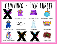 Webkinz Virtual Clothing (PICK THREE) -- See All Pictures!! Virtual Online Items