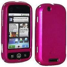 AMZER Polished Rose Pink Snap on Crystal Hard Case Fit For Motorola CLIQ MB200
