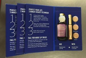 Lot Estee Lauder PERFECT 3 MINUTE Perfectionist CP+R&Double Wear Concealer Card