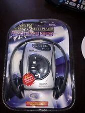 New Nos Lenoxx Sound Am/Fm Stereo Cassette Player With Headphones Model 1129
