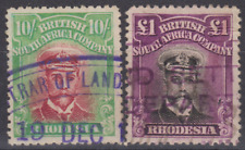 Rhodesia 1913/20's Admiral Collection Used £1 & 10/-
