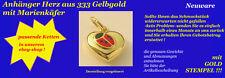 Goldanhänger Anhänger Echt Gold 333 Herz mit Marienkäfer Neu (169238)